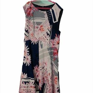French connection print dress sz 8 nwt